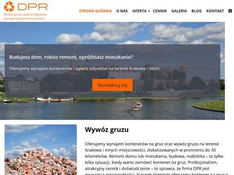 DPR - wywóz odpadów i gruzu w Krakowie