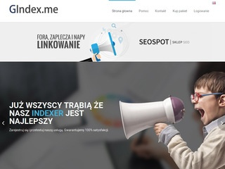 Indexer linków - gindex.me
