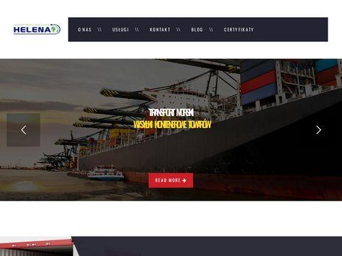 Transport kontenerów w http://helena-ts.eu