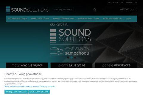 Pianka akustyczna, Maty wygłuszające, Panele akustyczne