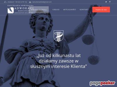 Adwokat Rzeszów Krzysztof Dolot Obsługa Prawna Firm, Odszkodowania, Rozwód
