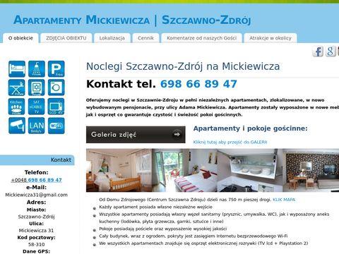 Noclegi w Wałbrzychu centrum - Mickiewicza 31