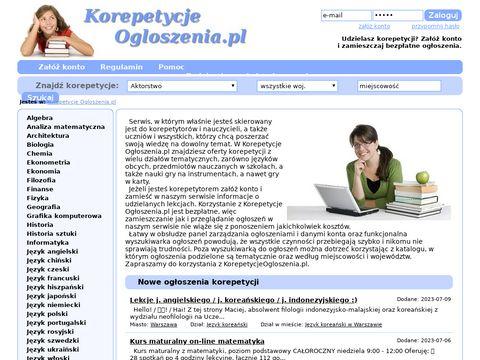 Korepetycje Gdańsk Ogłoszenia