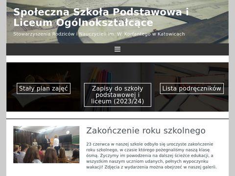 Społeczna szkoła - gimnazjum i Liceum Ogólnokształcące - Katowice