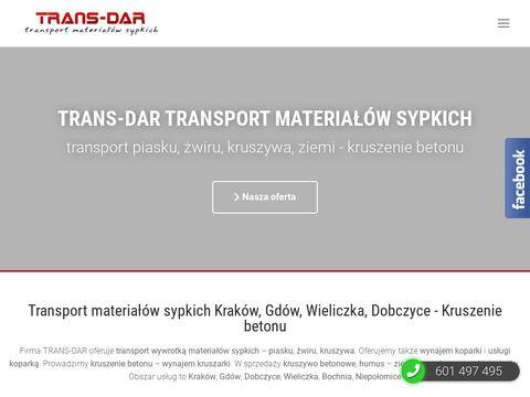 Transport piasku Trans-dar