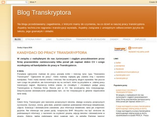 Blog transkryptor.pl