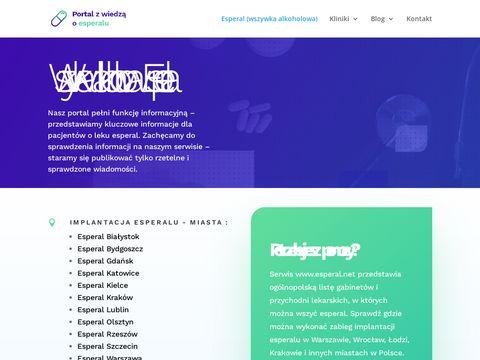 Esperal.net - informacje o esperalu