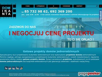 Projekty domów jednorodzinnych Dominanta
