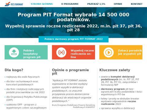 Wypełnij pit 2018 z pomocą programu do pit pitformat.pl