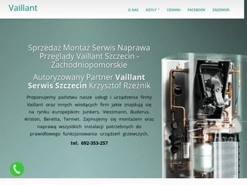 Naprawa pieców oraz bojlerów gazowych Vaillant Junkers Szczecin Hydraulik - instalacja CO