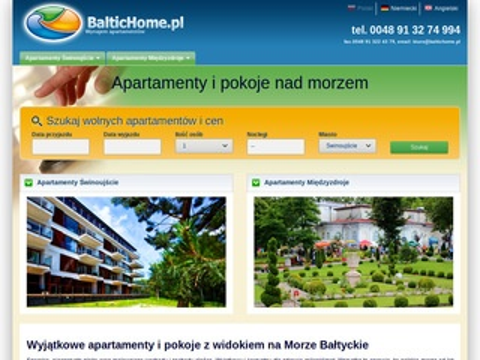Baltichome.pl - wynajem apartamentów w Świnoujściu i Międzyzdrojach