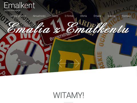 emalkent.pl emaliowana tablica reklamowa