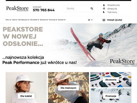 Odzież narciarska i akcesoria – peakstore.pl