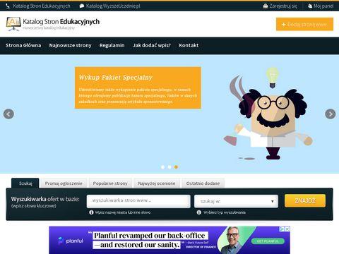 Edukacyjne strony - katalog