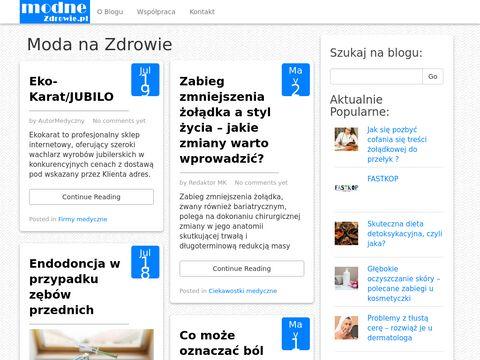 Zdrowe życie - blog modnezdrowie.pl