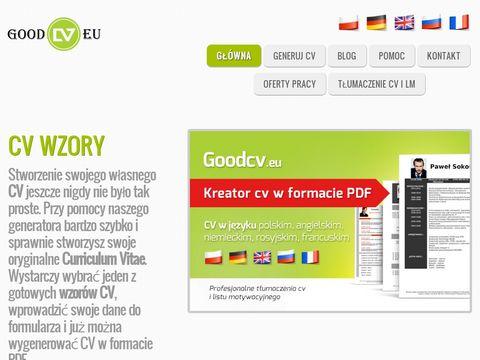 Szablony cv pdf