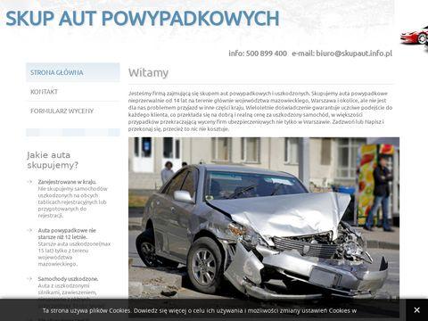 Skup Aut Powypadkowych, Samochodów Uszkodzonych-Warszawa