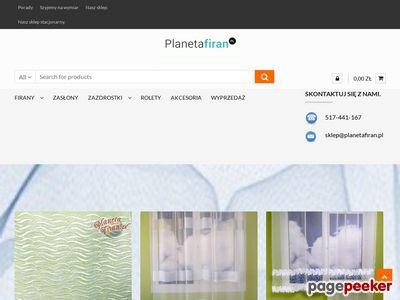 http://planetafiran.pl - Firany sklep internetowy