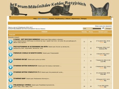 O forach o kotach rosyjskich niebieskich.