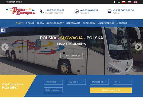 Przewozy autokarowe Polska Włochy