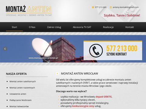 Instalacja anten satelitarnych i naziemnych