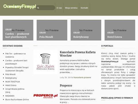 Oceny i opinie pracodawców - Oceniamyfirmy.pl