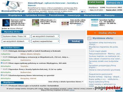 BiznesOferty.pl - szukam transportu, szukam dystrybutorów