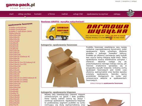 Gama-Pack - pudełka tekturowe - darmowa dostawa w 24h.