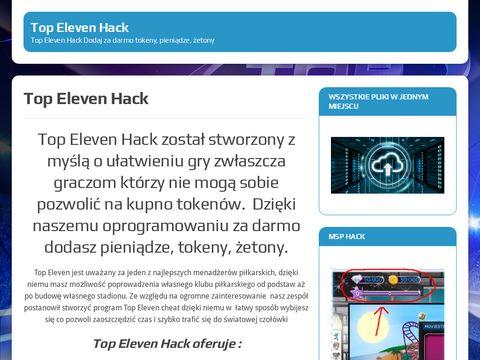 Top Eleven Hack Dodaj tokeny, pieniądze, żetony